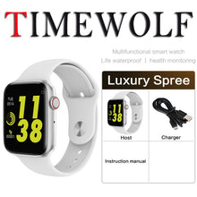 Load image into Gallery viewer, Timewolf Bluetooth Smart Watch Series 4 5 ECG Heart Rate Fitness Monitor Bluetooth Call Smartwatch Serie 5 for Apple Android