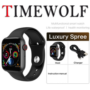 Timewolf Bluetooth Smart Watch Series 4 5 ECG Heart Rate Fitness Monitor Bluetooth Call Smartwatch Serie 5 for Apple Android