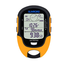 Load image into Gallery viewer, SUNROAD GPS Tracker Locator Finder Navigation Compass Handheld USB Rechargeable Digital Altimeter Barometer GPS Reloj Watches
