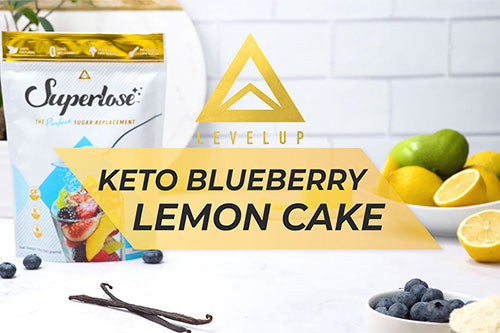 Keto Blueberry Lemon Cake