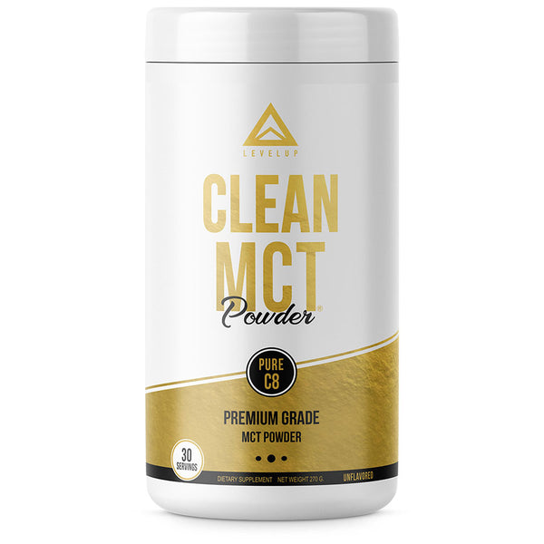 Levelup keto MCT powder, clean MCT with pure C8