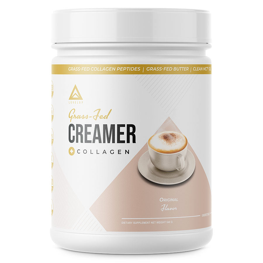 Levelup keto coffee creamer with collagen in original flavor