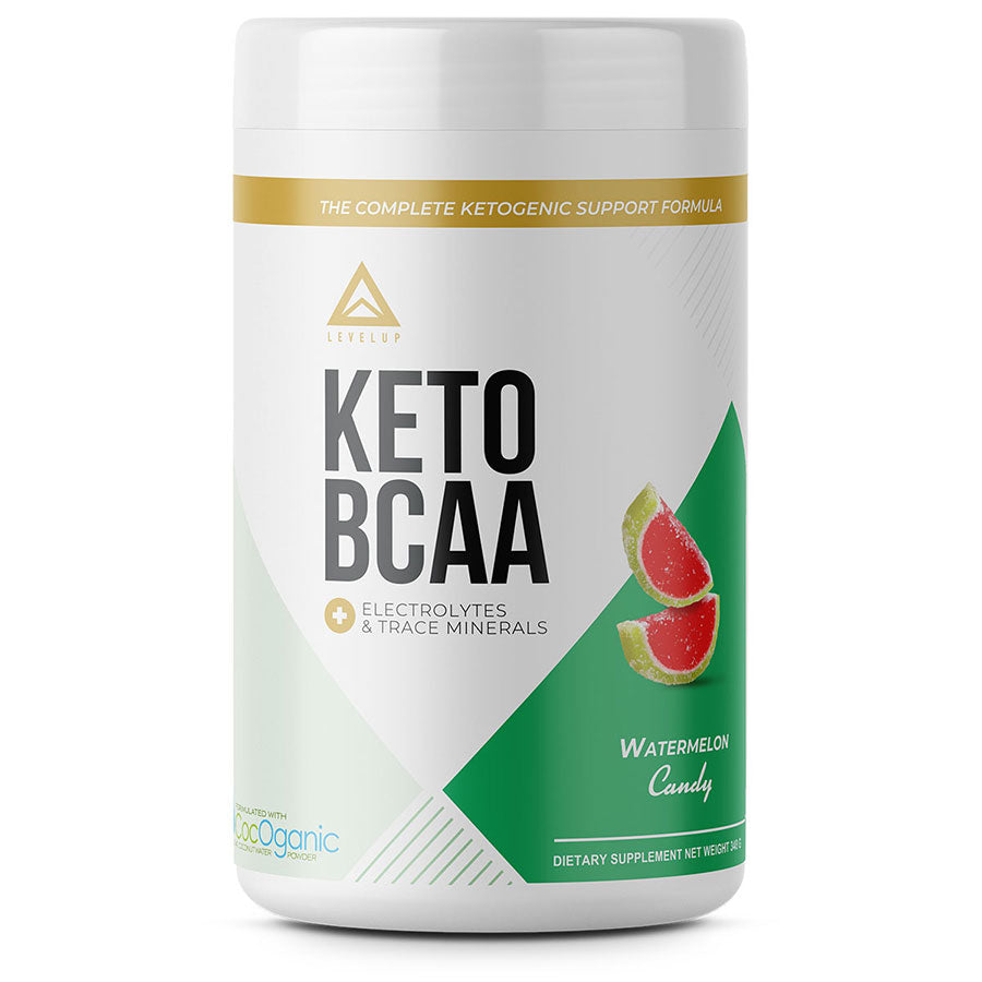 Levelup keto BCAA with electrolytes in watermelon candy