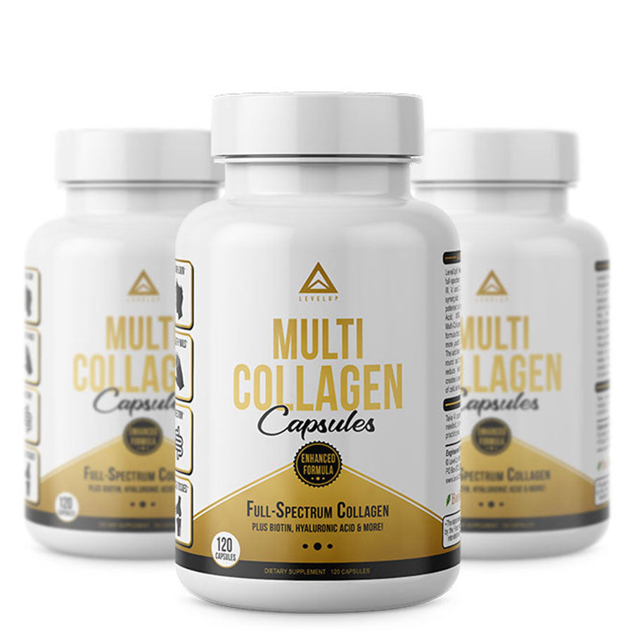 Levelup multi-collagen capsules 3 jars