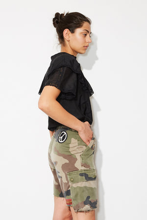 gentle camo shorts * up cycled one of a kind, pair 1.