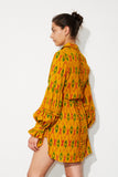 gentle shirt tunic *saffron ikat