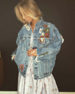 custom denim salvage jacket