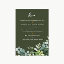 Load image into Gallery viewer, Bold Green Foliage Wedding Invitation Set
