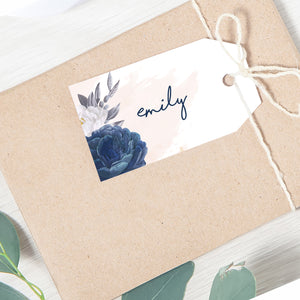 Blue Rose Placecards Name Tag