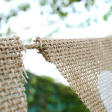 Load image into Gallery viewer, Love Heart Rustic Hessian Bunting