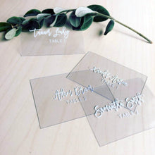 Load image into Gallery viewer, Clear Acrylic Placecards