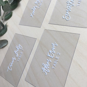Clear Acrylic Placecards
