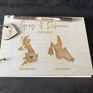 Custom Duo Destination Wedding Guest Book