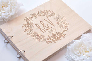 Personalised Wreath Guestbook
