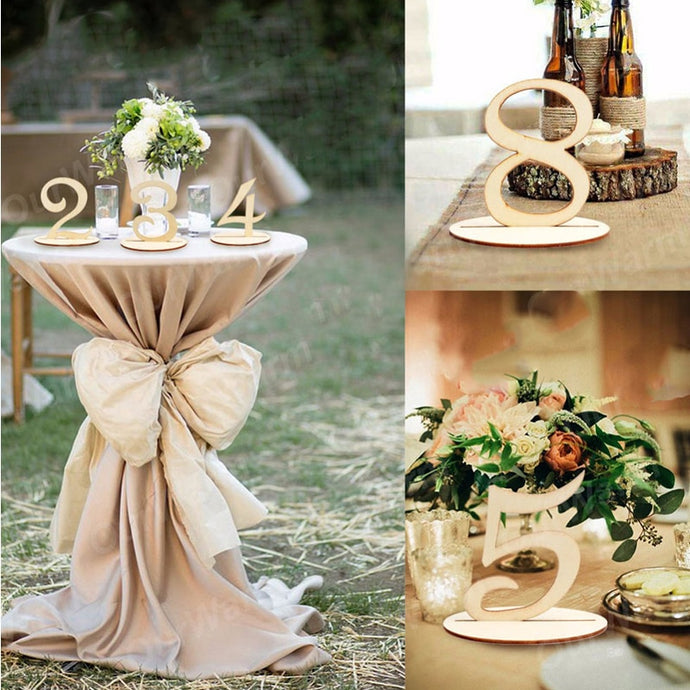 Wooden Rustic Table number
