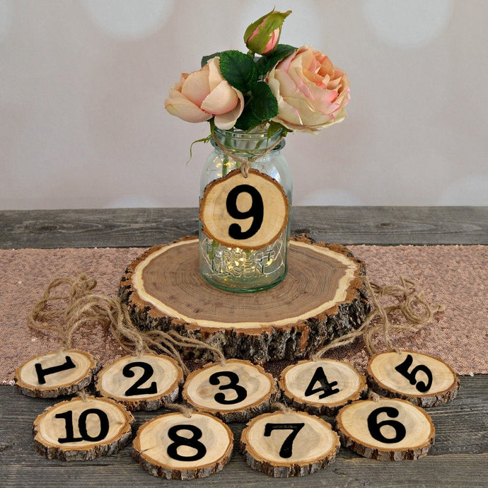Rustic Wooden Hanging Number Ornament