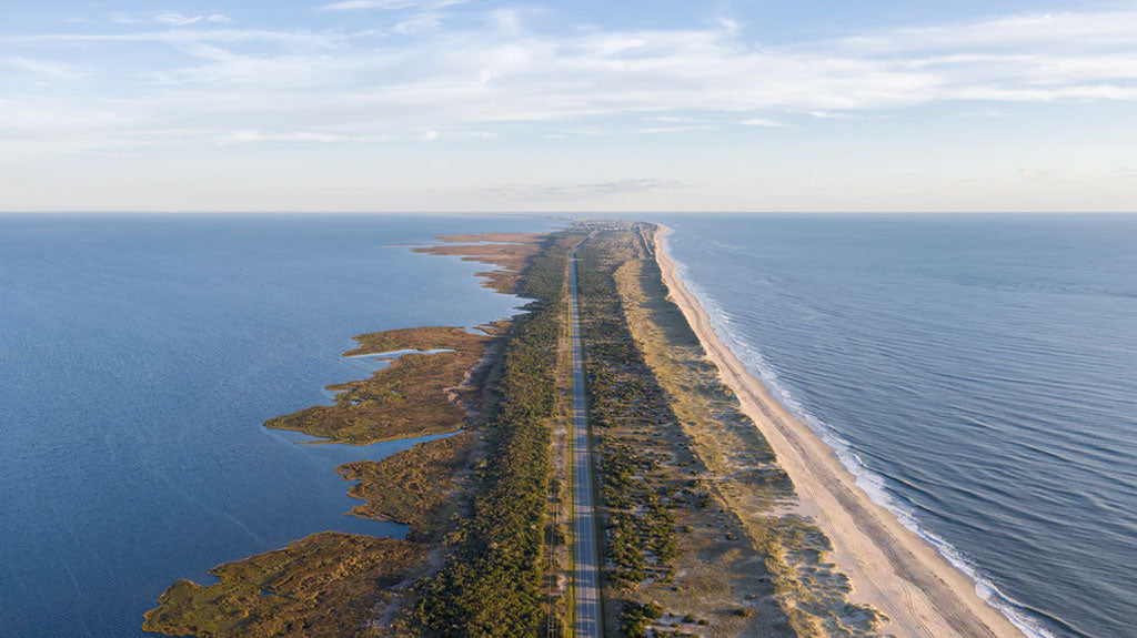 Aerial View of North Carolina's Outer Banks