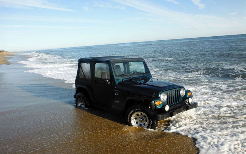 Jeep Stuck in Sand Outer Banks NC