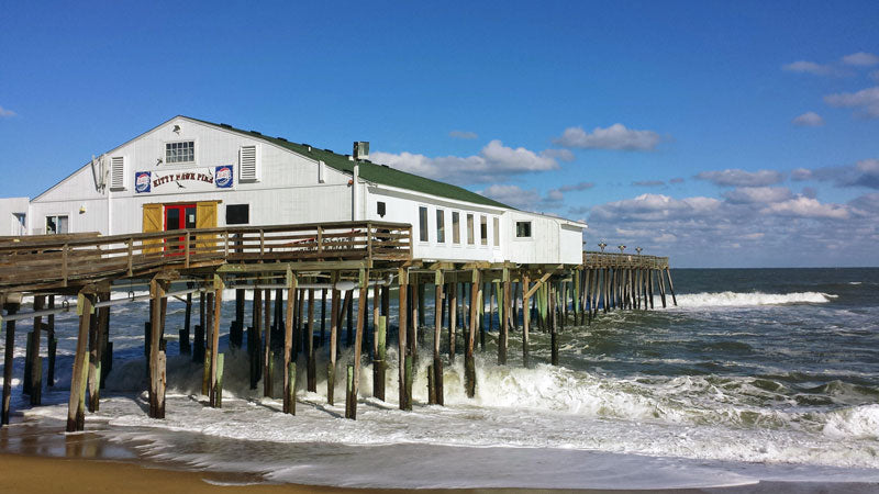 Kitty Hawk Pier Located on the Outer Banks of North Carolina