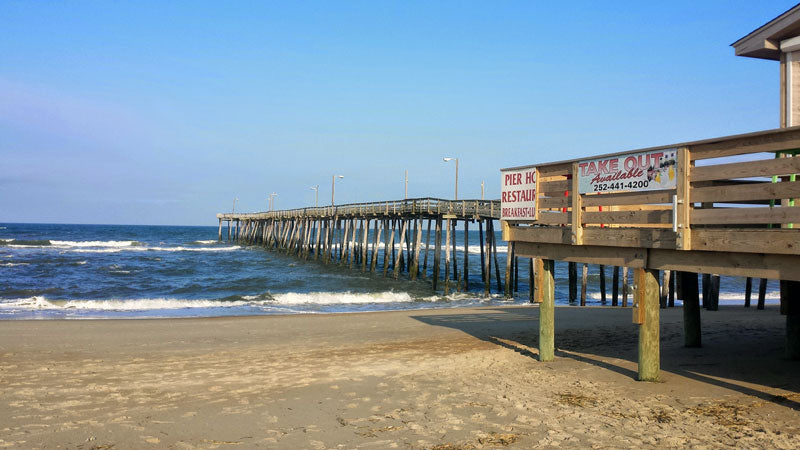 Nags Head Fishing Pier in Outer Banks NC