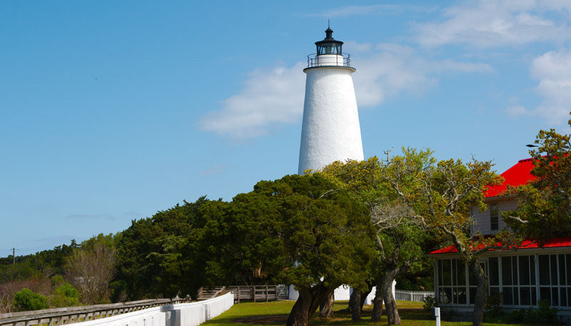 Ocracoke Island Lighthouse Located in the Outer Banks of North Carolina