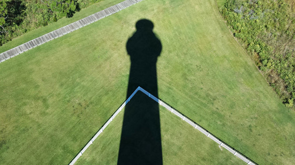 Shadow of Bodie Island Lighthouse in Nags Head, NC