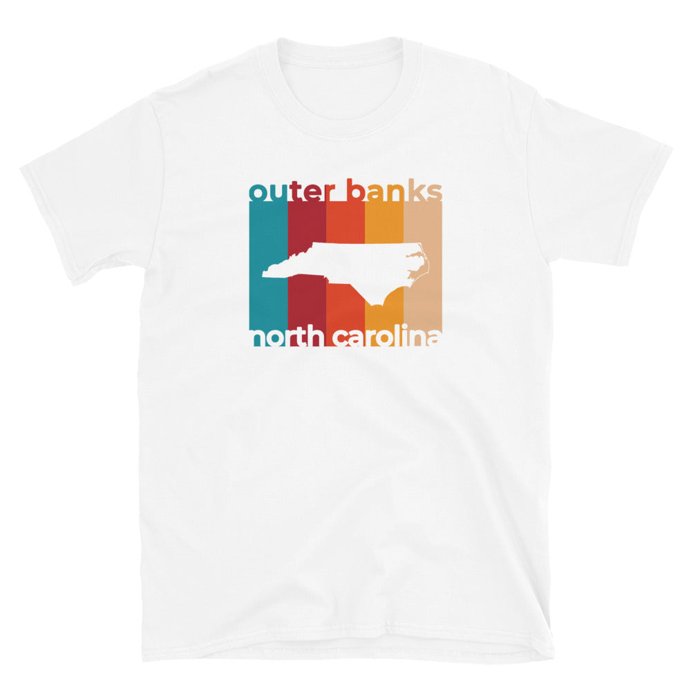 Outer Banks Map Cutout T Shirt