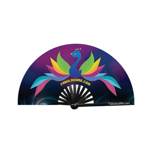 FabulousMe Peacock Logo Fan (UV Glow) -SALE SALE SALE