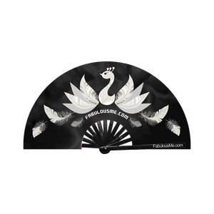 FabulousMe Peacock Logo Fan (Black & White) - SALE SALE SALE