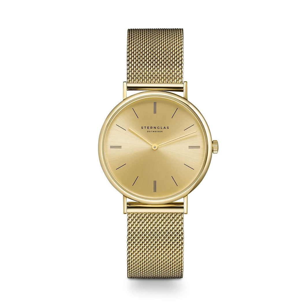 Sinja Quarz 32mm gold