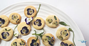 Edible Flower Shortbread