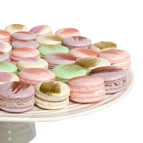 Order your mixed flavour box containing twelve fresh and beautifully handcrafted Watch Me Whip macarons.