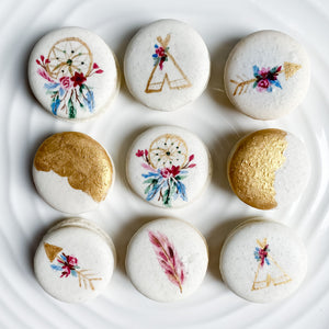 Dreamcatcher macarons, boho, feather
