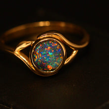 Load image into Gallery viewer, Boulder opal & 14ct yellow gold ring
