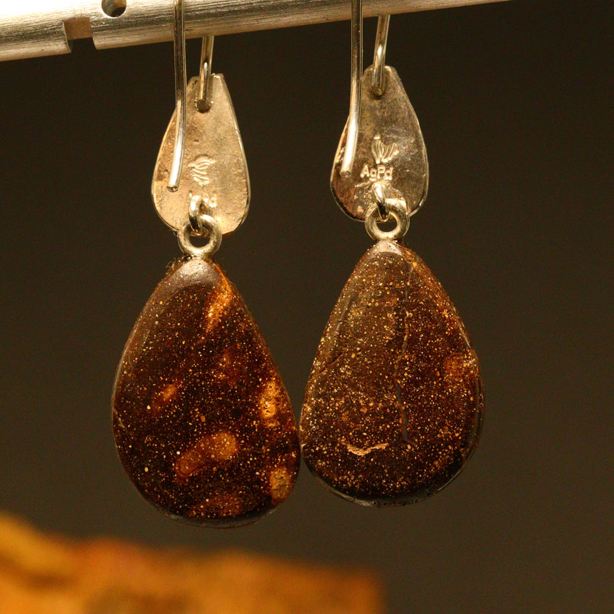 Boulder opal 'split', palladium silver & 18ct gold earrings