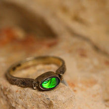 Load image into Gallery viewer, Black opal & sterling silver ring