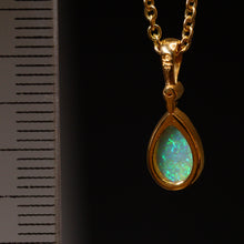 Load image into Gallery viewer, Crystal opal, 9ct gold & diamond pendant