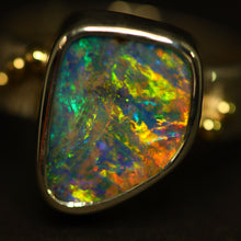 Load image into Gallery viewer, Boulder opal, palladium silver & 18ct gold ring