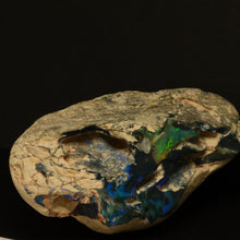 Load image into Gallery viewer, Rough Lightning Ridge black opal specimen