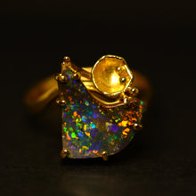 Load image into Gallery viewer, 'Lily' Boulder opal & 18ct gold ring