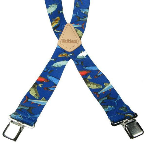 Fish 4 Clip Heavy Duty Brace/Suspender - Big Guys Menswear