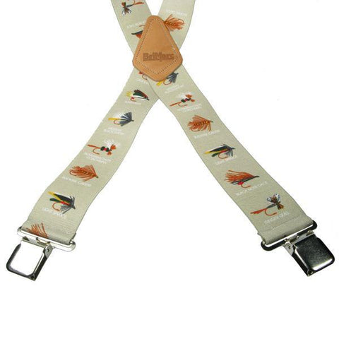 Fishing Bait 4 Clip Heavy Duty Brace/Suspender - Big Guys Menswear