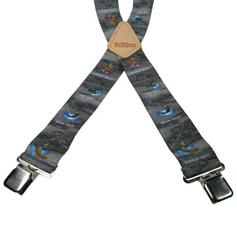 Trout 4 Clip Heavy Duty Brace/Suspender - Big Guys Menswear