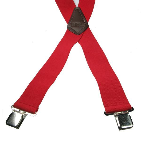 Red 4 Clip Heavy Duty Brace/Suspender - Big Guys Menswear