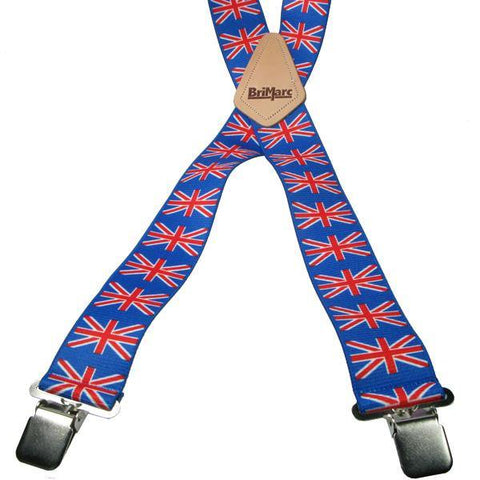 Union Jack 4 Clip Heavy Duty Brace/Suspender - Big Guys Menswear