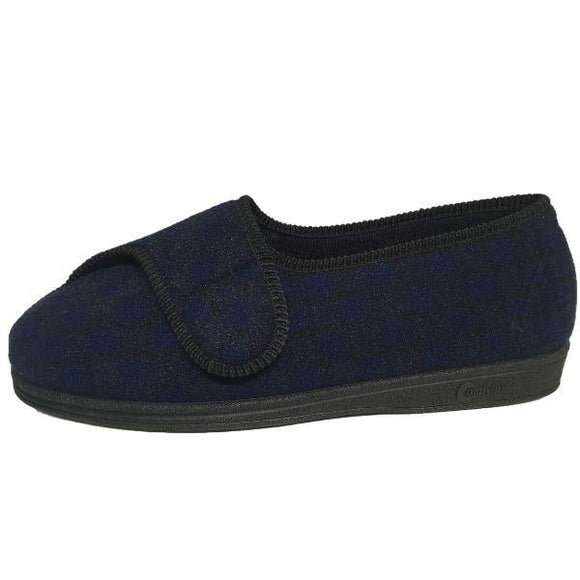 Comfylux Georgie Wide Fit Washable Slippers