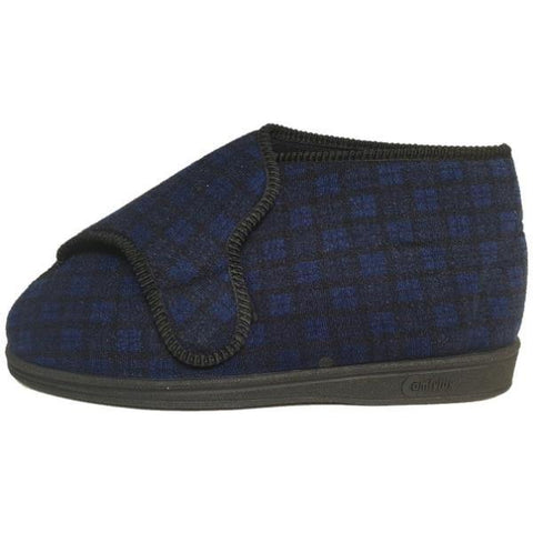 Comfylux Gerry Wide Fit Washable Bootee Slippers - Big Guys Menswear
