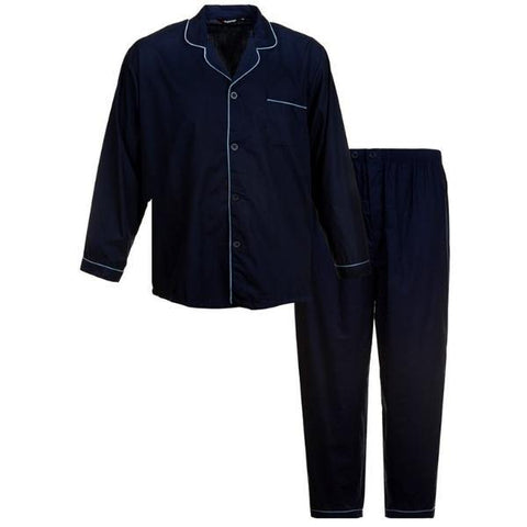 Espionage Woven Yard Dyed Navy Pajama's - Big Guys Menswear