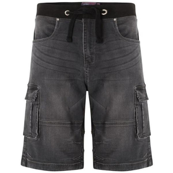 Kam Dito Elastic Denim Shorts - Charcoal | Mid Used | Light Used