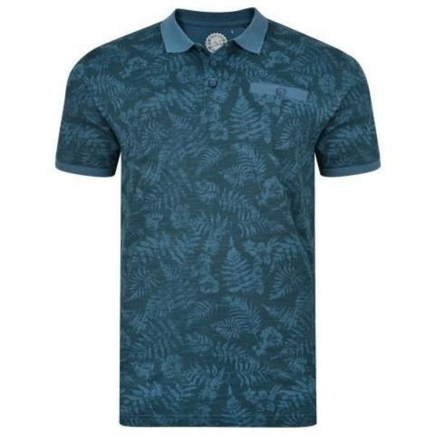 Kam Leaf Print Polo ~ sizes 5XL-8XL - Big Guys Menswear